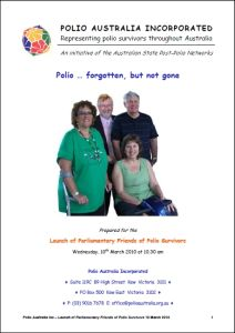 Polio Australia - Polio-Forgotten, But Not Gone - Proposal - March 2010